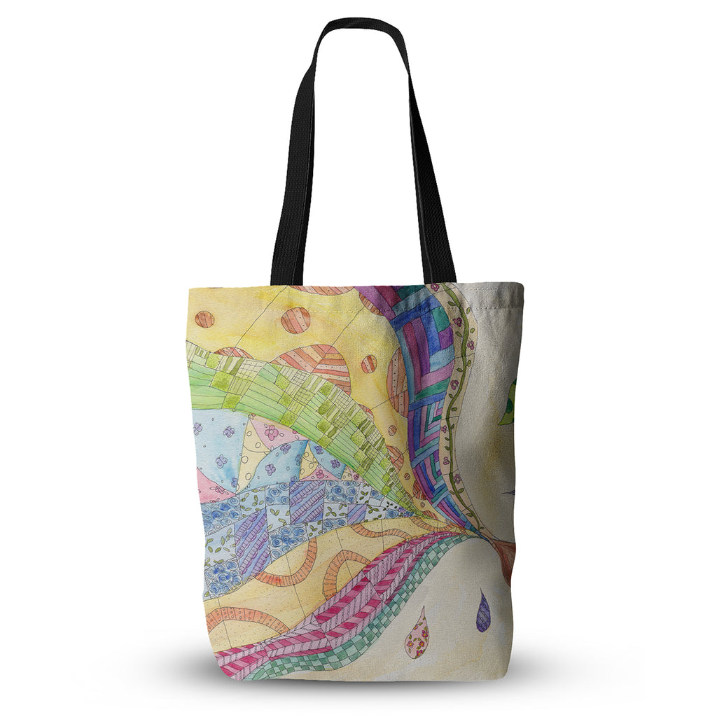 "Catherine Holcombe ""The Painted Quilt"" Everything Tote Bag - KESS InHouse  - 1"