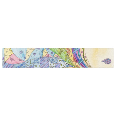 "Catherine Holcombe ""The Painted Quilt"" Table Runner - KESS InHouse  - 1"