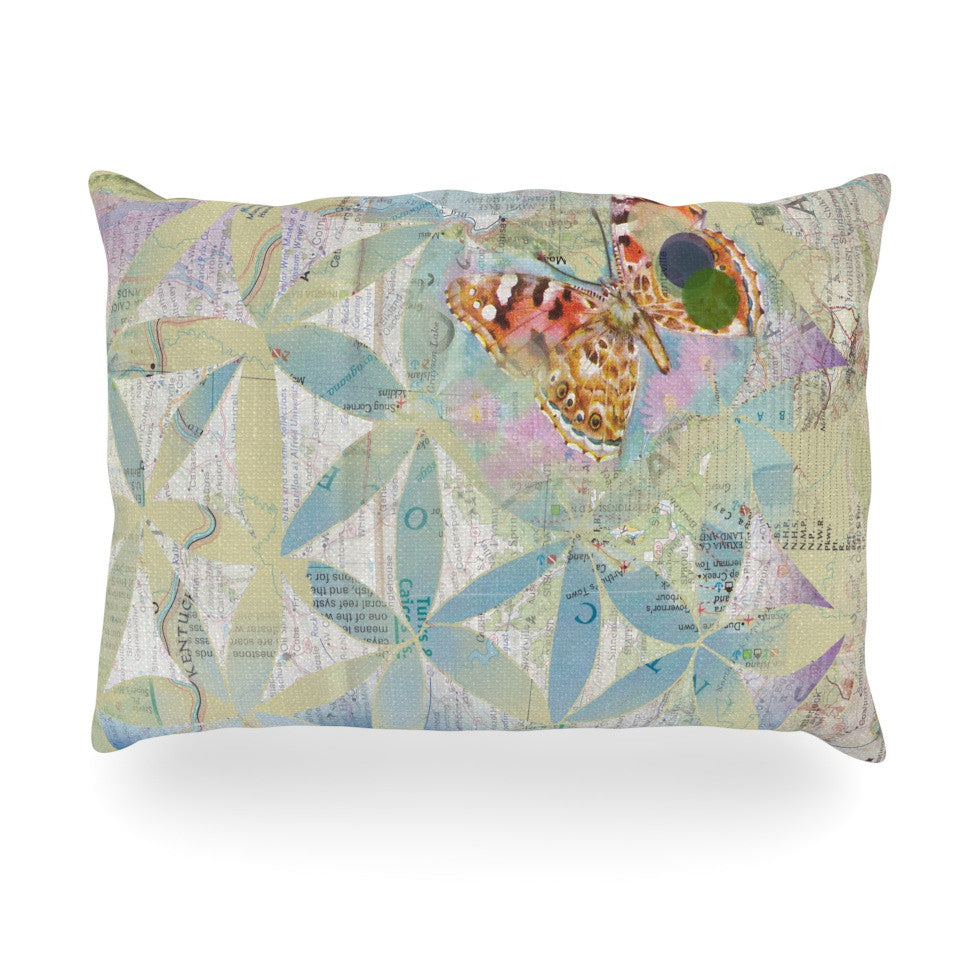 "Catherine Holcombe ""Miraculous Recovery"" Butterfly Oblong Pillow - KESS InHouse"