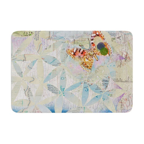 "Catherine Holcombe ""Miraculous Recovery"" Butterfly Memory Foam Bath Mat - KESS InHouse"