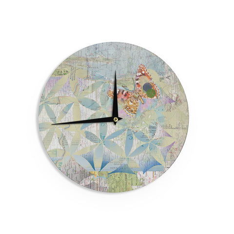 "Catherine Holcombe ""Miraculous Recovery"" Butterfly Wall Clock - KESS InHouse"