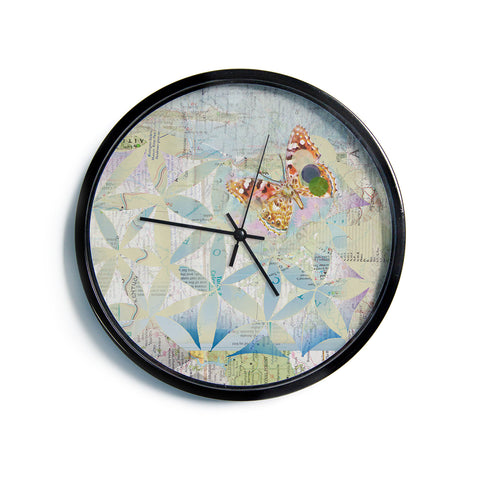 "Catherine Holcombe ""Miraculous Recovery"" Butterfly Modern Wall Clock"