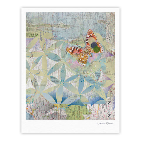 "Catherine Holcombe ""Miraculous Recovery"" Butterfly Fine Art Gallery Print - KESS InHouse"