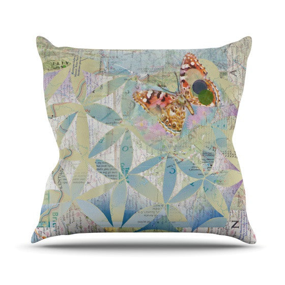 "Catherine Holcombe ""Miraculous Recovery"" Butterfly Outdoor Throw Pillow - KESS InHouse  - 1"