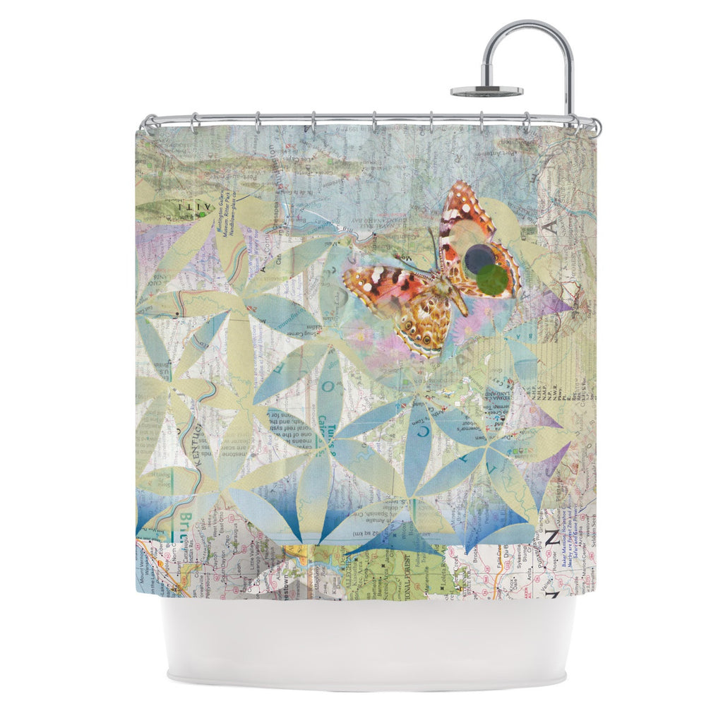 "Catherine Holcombe ""Miraculous Recovery"" Butterfly Shower Curtain - KESS InHouse"