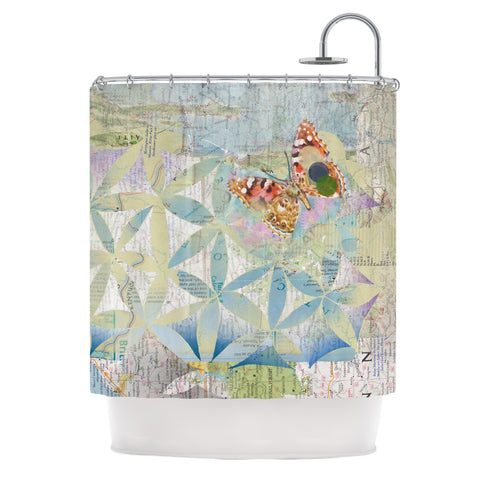 "Catherine Holcombe ""Miraculous Recovery"" Butterfly Shower Curtain - Outlet Item"