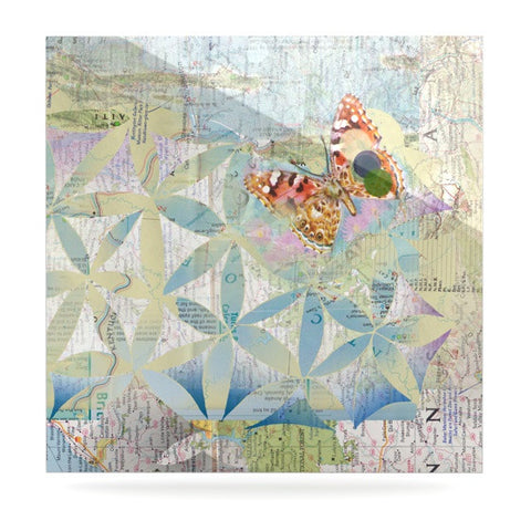 "Catherine Holcombe ""Miraculous Recovery"" Butterfly Luxe Square Panel - KESS InHouse  - 1"