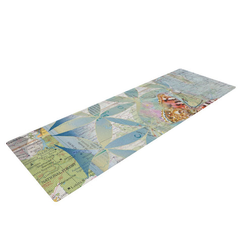 "Catherine Holcombe ""Miraculous Recovery"" Butterfly Yoga Mat - KESS InHouse  - 1"