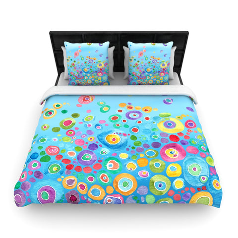 "Catherine Holcombe ""Inner Circle Blue""  Woven Duvet Cover - Outlet Item"