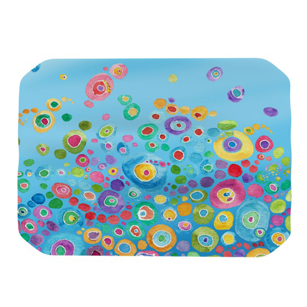 "Catherine Holcombe ""Inner Circle Blue"" Place Mat - KESS InHouse"