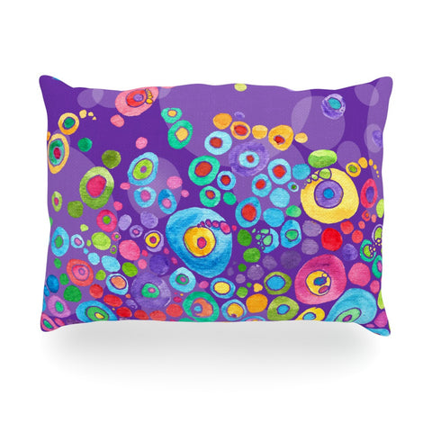 "Catherine Holcombe ""Inner Circle Purple"" Lavender Oblong Pillow - KESS InHouse"