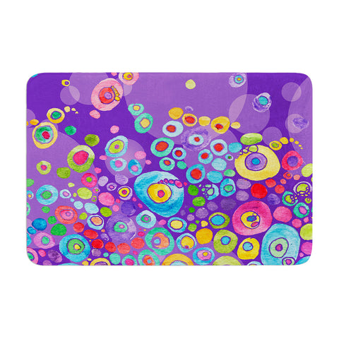 "Catherine Holcombe ""Inner Circle Purple"" Lavender Memory Foam Bath Mat - KESS InHouse"
