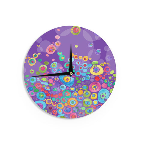 "Catherine Holcombe ""Inner Circle Purple"" LavenderWall Clock - KESS InHouse"