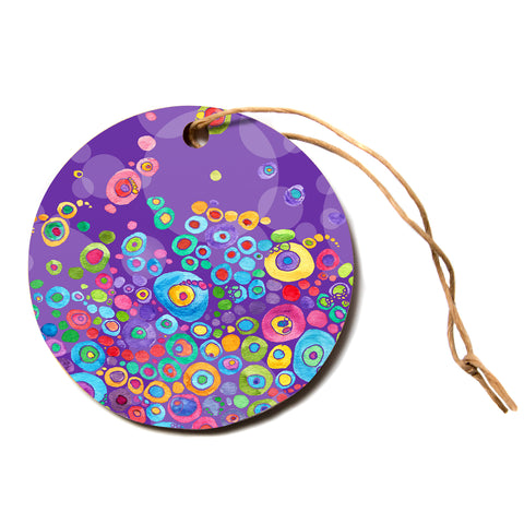"Catherine Holcombe ""Inner Circle Purple"" Lavender Circle Holiday Ornament"