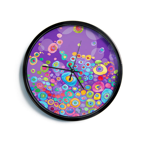 "Catherine Holcombe ""Inner Circle Purple"" Lavender Modern Wall Clock"