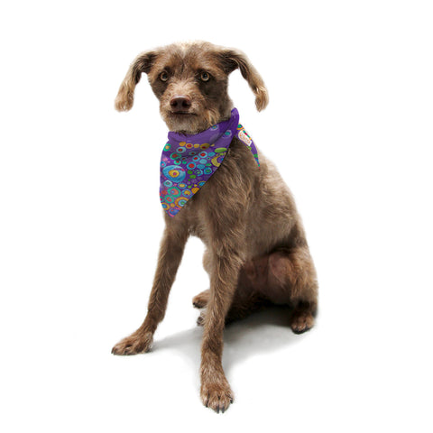 "Catherine Holcombe ""Inner Circle Purple"" Lavender Pet Bandana - KESS InHouse  - 1"