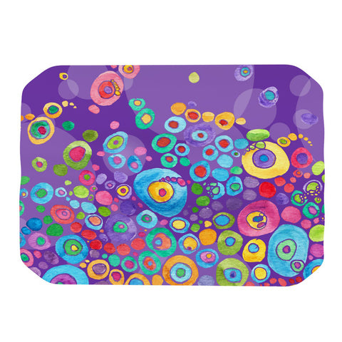 "Catherine Holcombe ""Inner Circle Purple"" Lavender Place Mat - KESS InHouse"