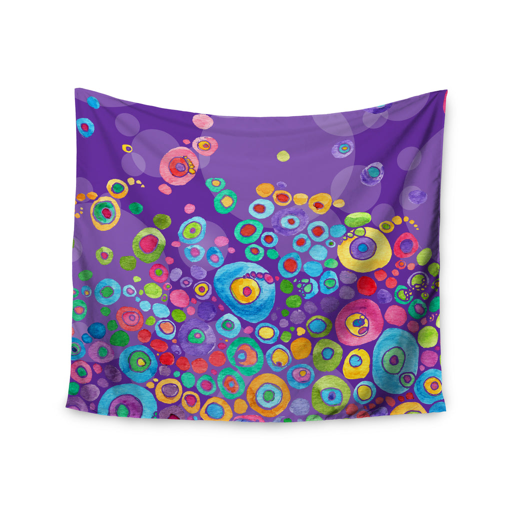 "Catherine Holcombe ""Inner Circle Purple"" Lavender Wall Tapestry - KESS InHouse  - 1"