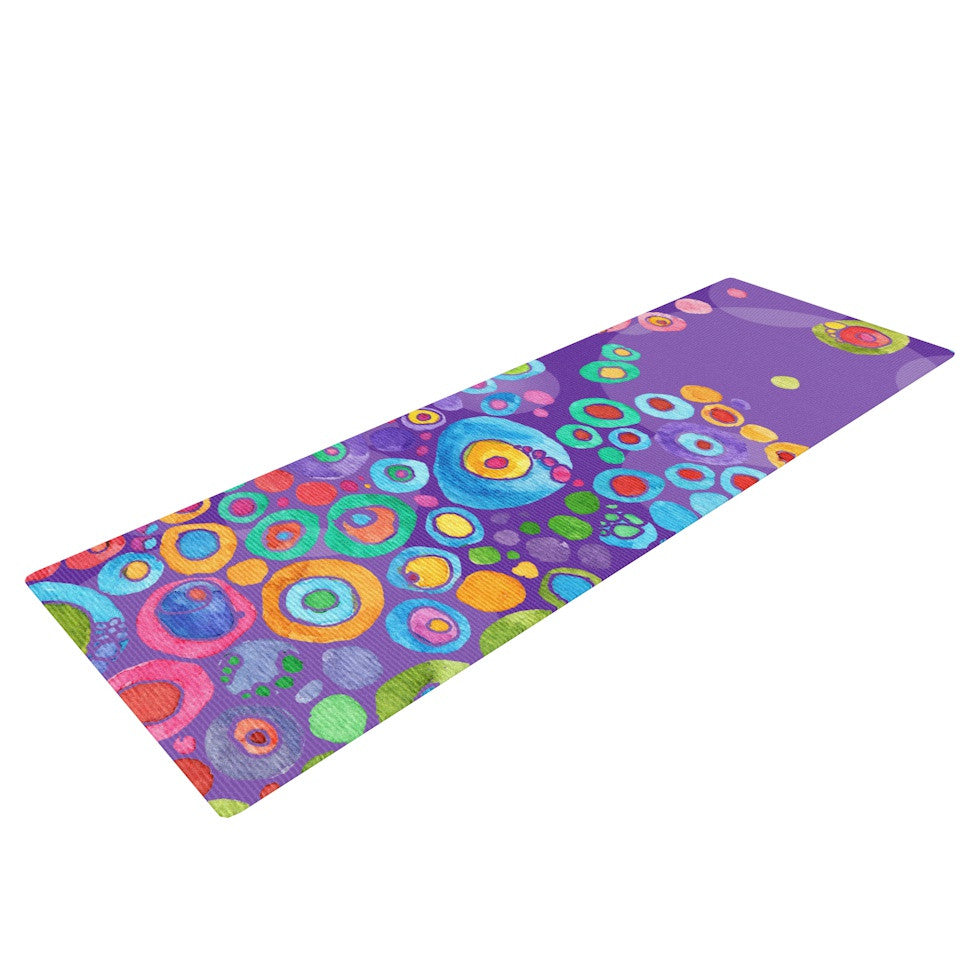 "Catherine Holcombe ""Inner Circle Purple"" Lavender Yoga Mat - KESS InHouse  - 1"