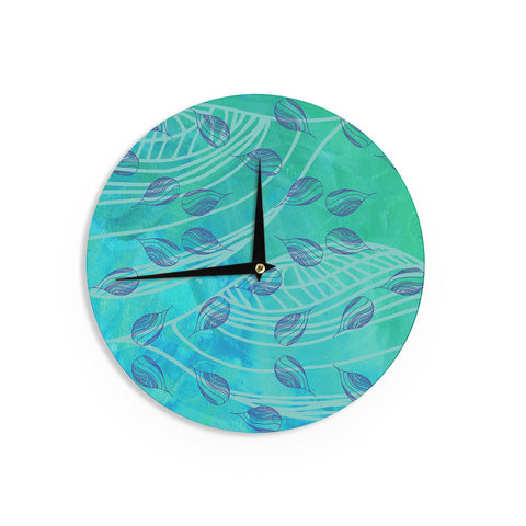 "Catherine Holcombe ""Sweet Summer Swim"" Wall Clock - KESS InHouse"