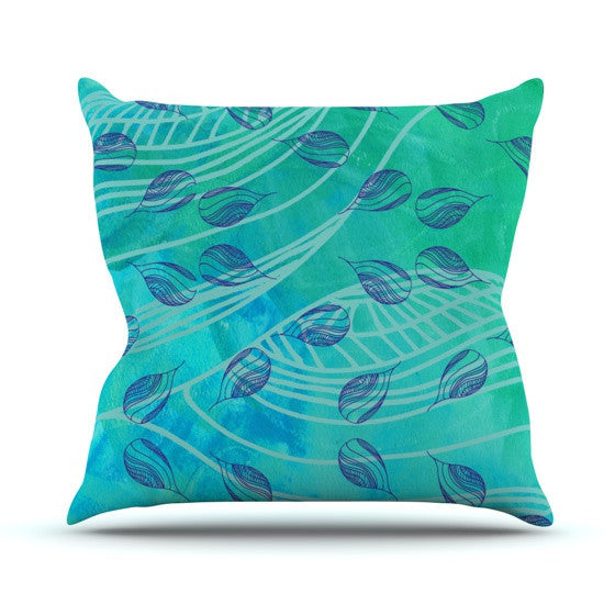 "Catherine Holcombe ""Sweet Summer Swim"" Outdoor Throw Pillow - KESS InHouse  - 1"