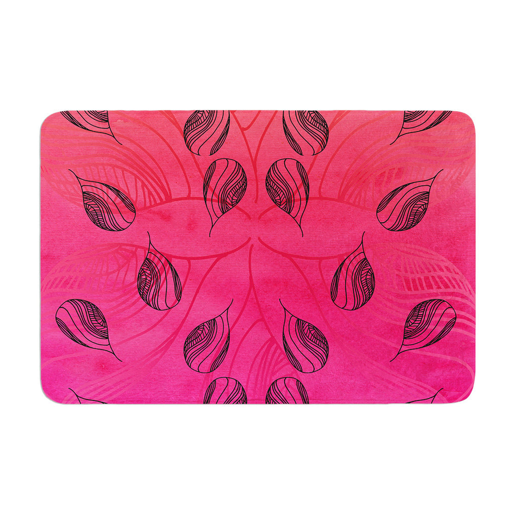 "Catherine Holcombe ""Summer Sunset"" Memory Foam Bath Mat - KESS InHouse"