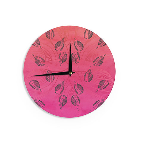 "Catherine Holcombe ""Summer Sunset"" Wall Clock - KESS InHouse"