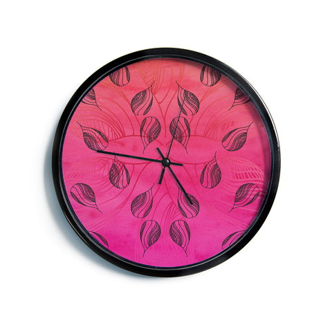 "Catherine Holcombe ""Summer Sunset""  Modern Wall Clock"