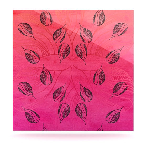 "Catherine Holcombe ""Summer Sunset"" Luxe Square Panel - KESS InHouse  - 1"