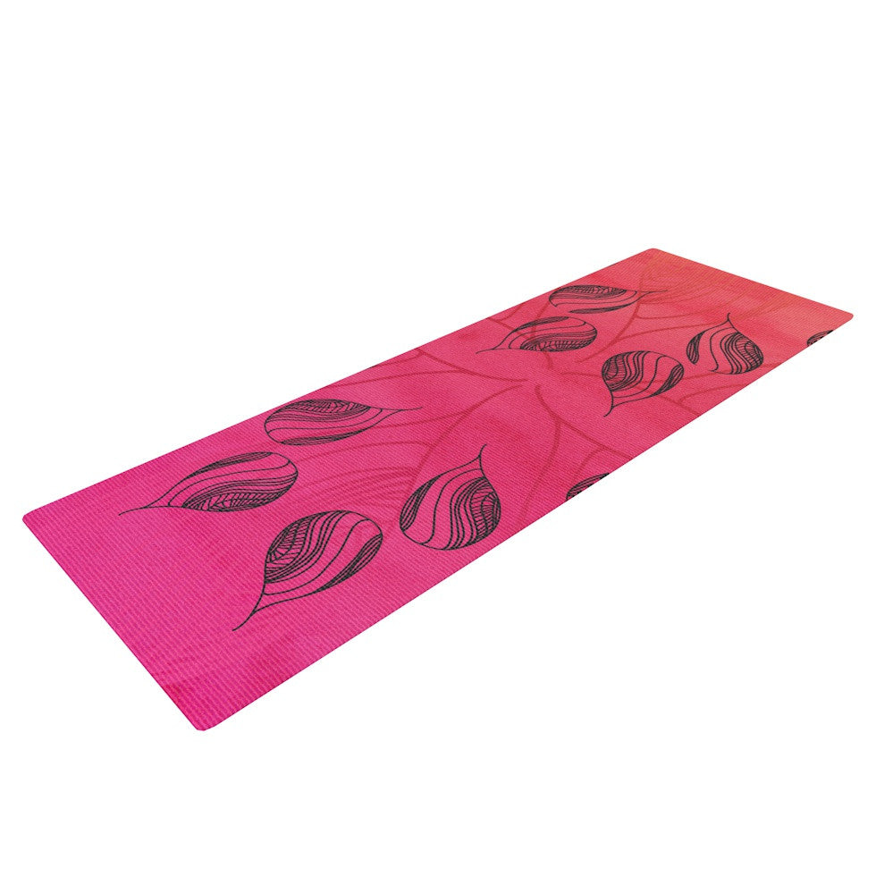"Catherine Holcombe ""Summer Sunset"" Yoga Mat - KESS InHouse  - 1"