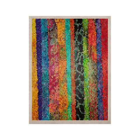 "Catherine Holcombe ""Stained Glass Batik Mosaic Stripe"" KESS Naturals Canvas (Frame not Included) - KESS InHouse  - 1"