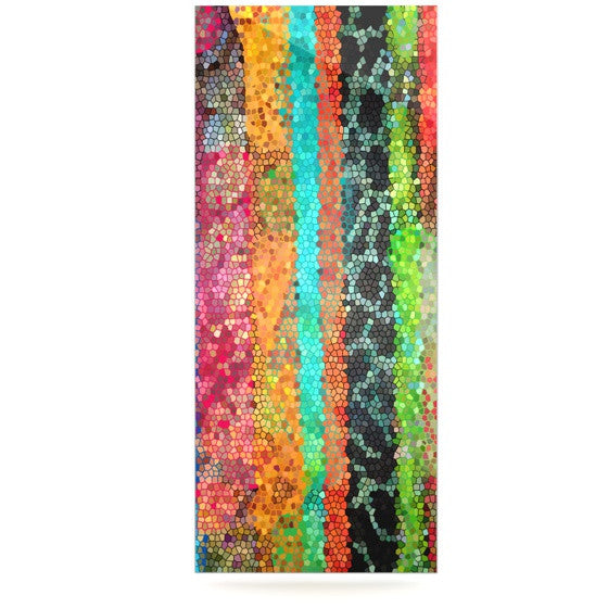 "Catherine Holcombe ""Stained Glass Batik Mosaic Stripe"" Luxe Rectangle Panel - KESS InHouse  - 1"