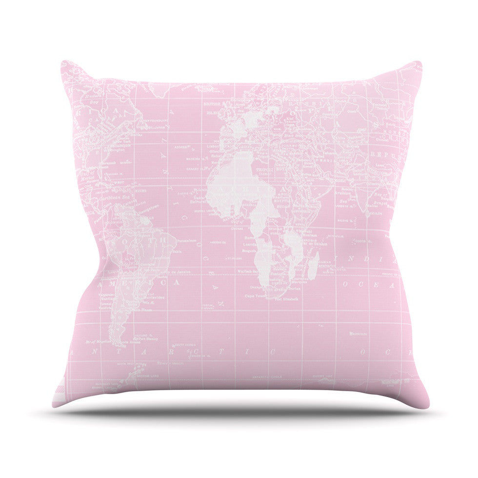 "Catherine Holcombe ""Her World"" Outdoor Throw Pillow - KESS InHouse  - 1"
