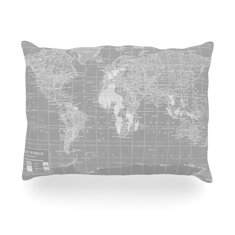 "Catherine Holcombe ""The Olde World"" Oblong Pillow - KESS InHouse"