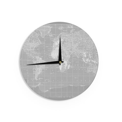"Catherine Holcombe ""The Olde World"" Wall Clock - KESS InHouse"