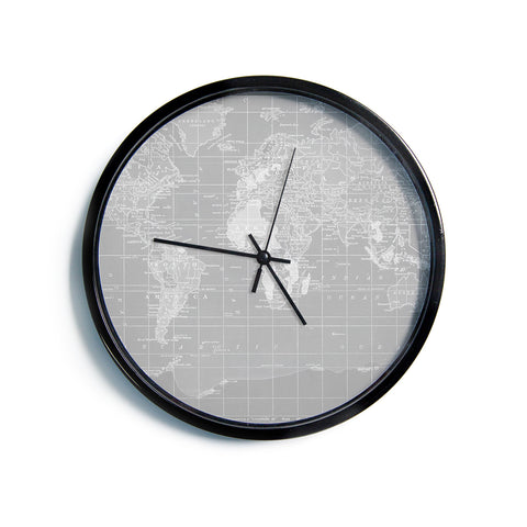 "Catherine Holcombe ""The Olde World""  Modern Wall Clock"