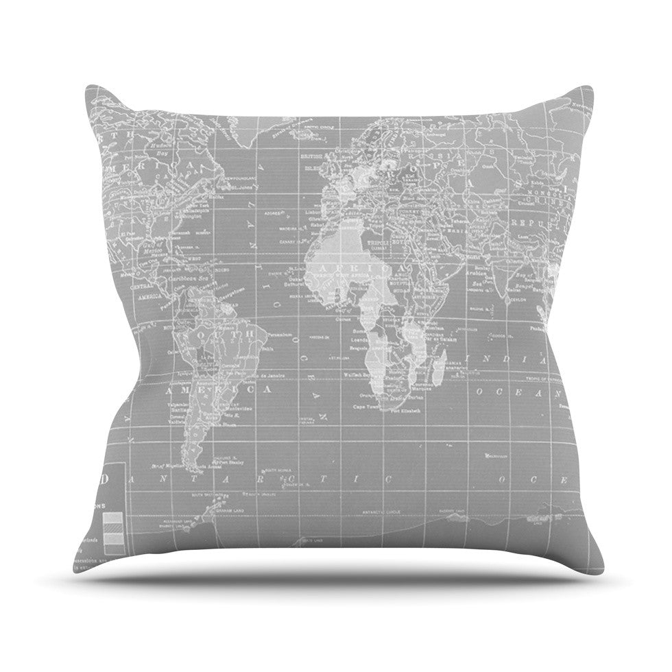 "Catherine Holcombe ""The Olde World"" Throw Pillow - KESS InHouse  - 1"