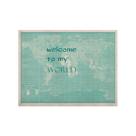 "Catherine Holcombe ""Welcome to my World Quote"" KESS Naturals Canvas (Frame not Included) - KESS InHouse  - 1"