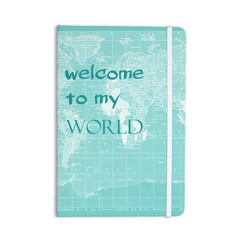 "Catherine Holcombe ""Welcome to my World Quote"" Everything Notebook - KESS InHouse  - 1"