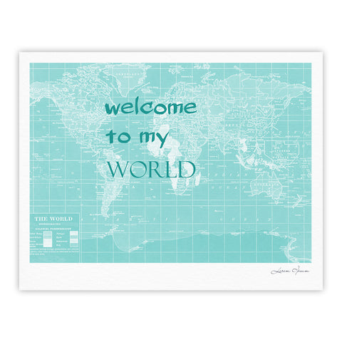 "Catherine Holcombe ""Welcome to my World Quote"" Fine Art Gallery Print - KESS InHouse"