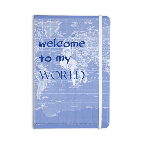 "Catherine Holcombe ""Welcome to my World Quote Indigo"" Everything Notebook - KESS InHouse  - 1"