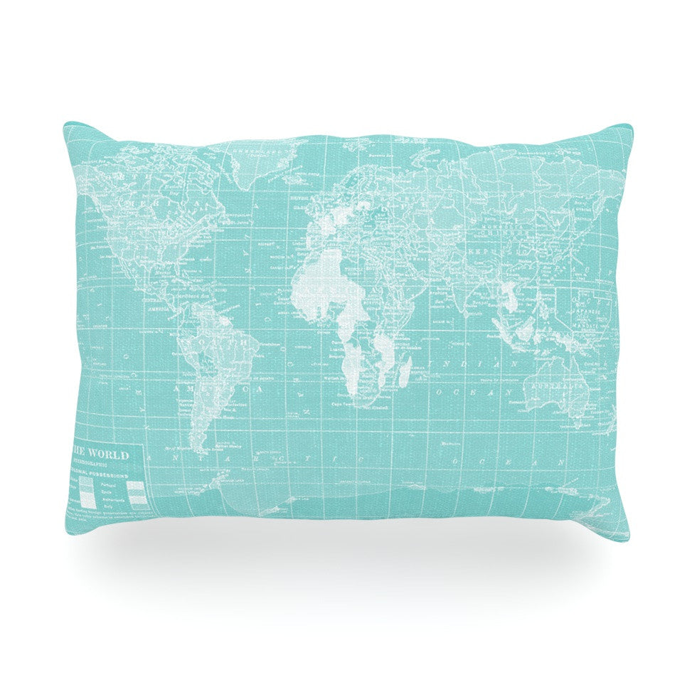 "Catherine Holcombe ""Welcome to my World"" Oblong Pillow - KESS InHouse"