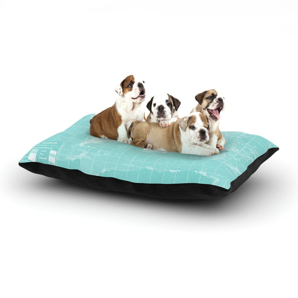 "Catherine Holcombe ""Welcome to my World"" Dog Bed - KESS InHouse  - 1"