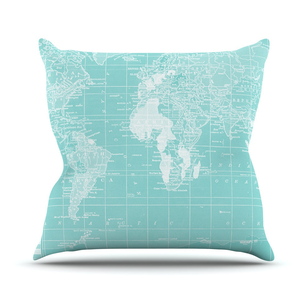"Catherine Holcombe ""Welcome to my World"" Outdoor Throw Pillow - KESS InHouse  - 1"