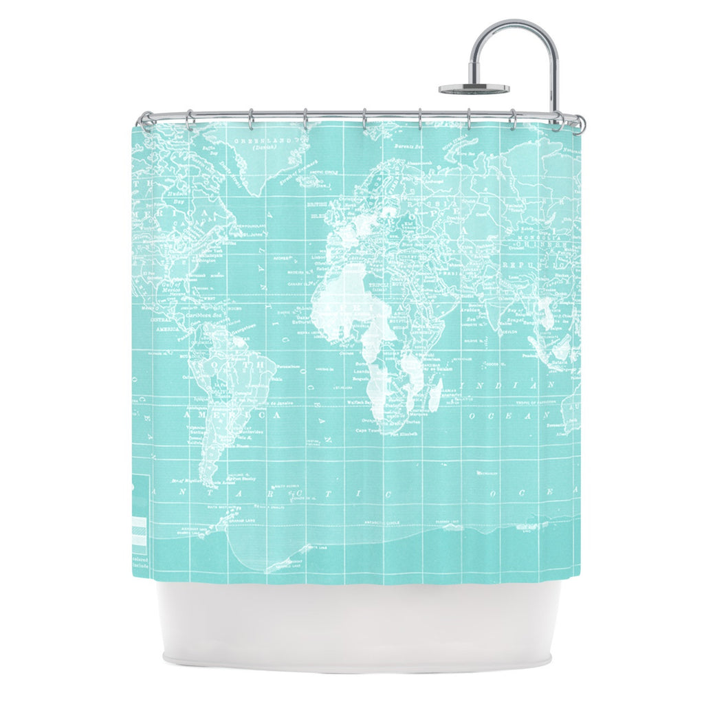 "Catherine Holcombe ""Welcome to my World"" Shower Curtain - KESS InHouse"