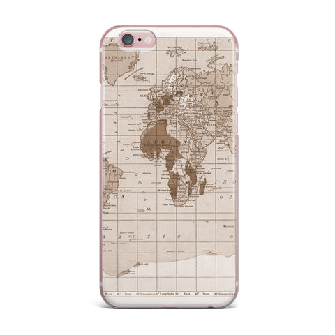 "Catherine Holcombe ""Emerald World"" Vintage Map iPhone Case - KESS InHouse"