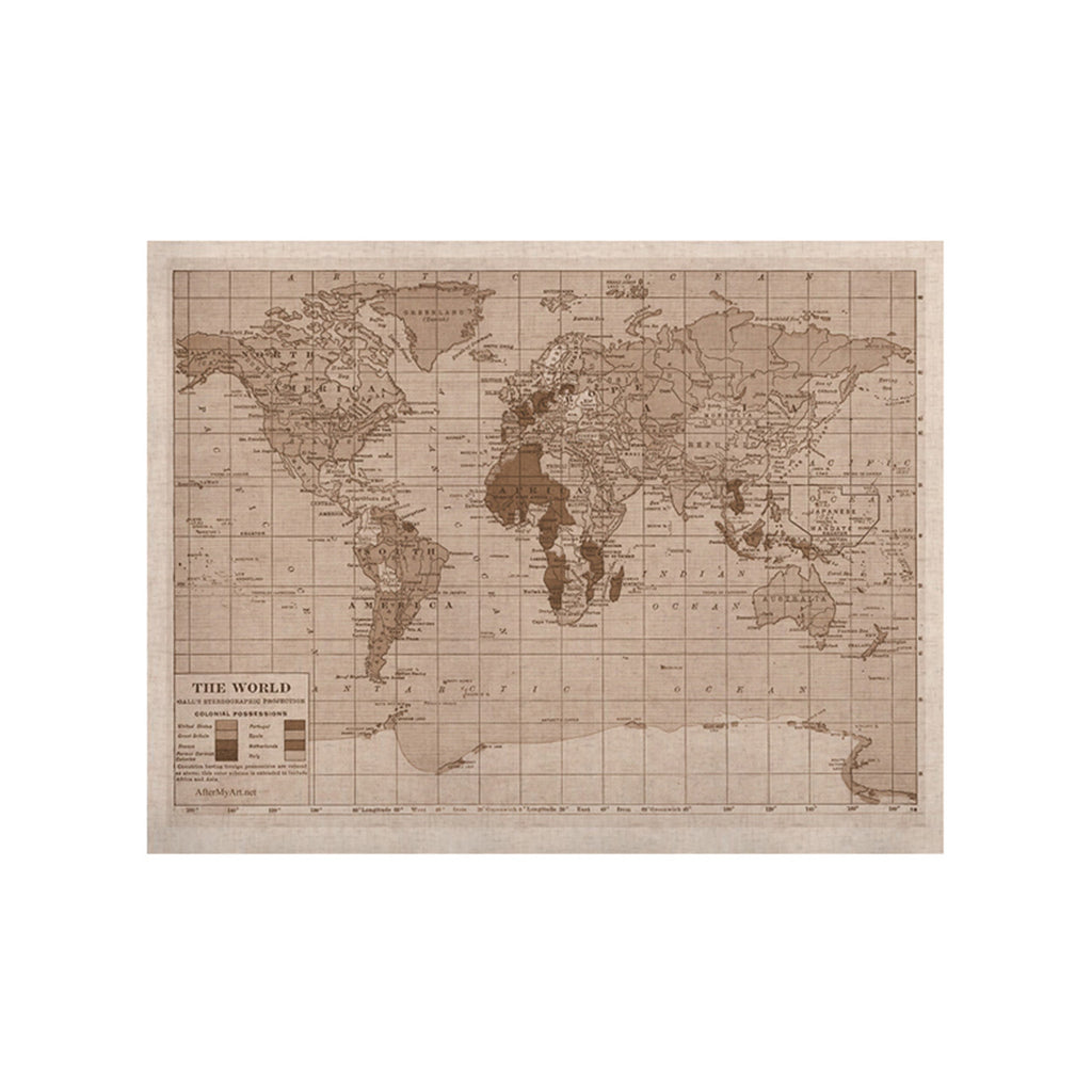 "Catherine Holcombe ""Emerald World"" Vintage Map KESS Naturals Canvas (Frame not Included) - KESS InHouse  - 1"