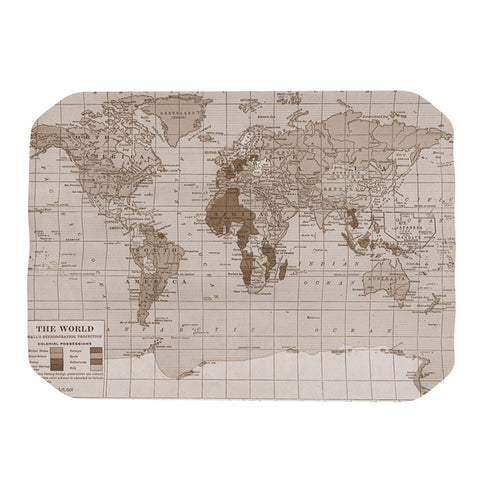 "Catherine Holcombe ""Emerald World"" Vintage Map Place Mat - KESS InHouse"