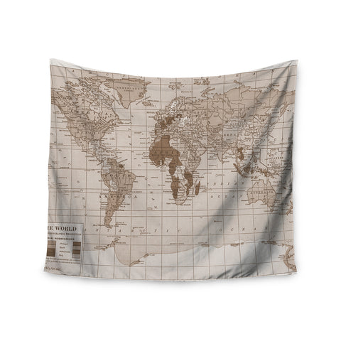 "Catherine Holcombe ""Emerald World"" Vintage Map Wall Tapestry - KESS InHouse"