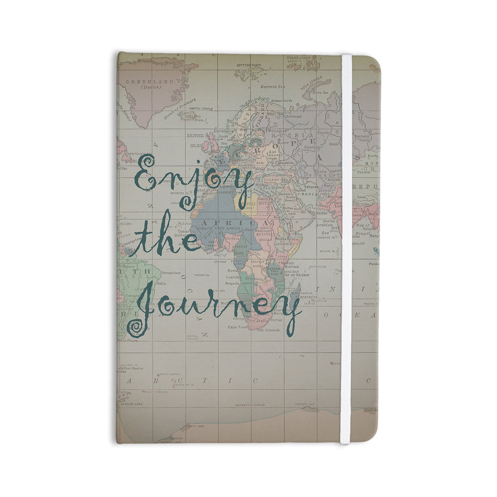 "Catherine Holcombe ""Journey"" World Map Everything Notebook - KESS InHouse  - 1"